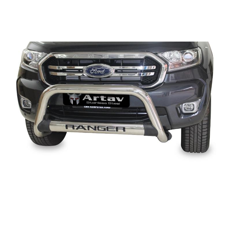 Ford Ranger T7 Facelift Nudge Bar Stainless