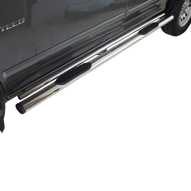 GWM Steed 5 & 5E Double Tube Oval Side Steps Stainless (Fits all DC Models)