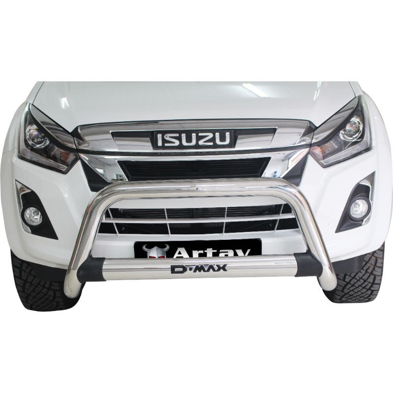 Isuzu DMAX Nudge Bar Stainless (Fits MUX Model – Request MUX Decal on order)
